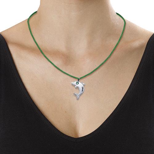Delfin halskjede i sølv - 2