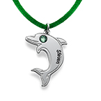 Delfin halskjede i sølv