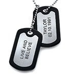 Gravert Dobbel Dog Tag