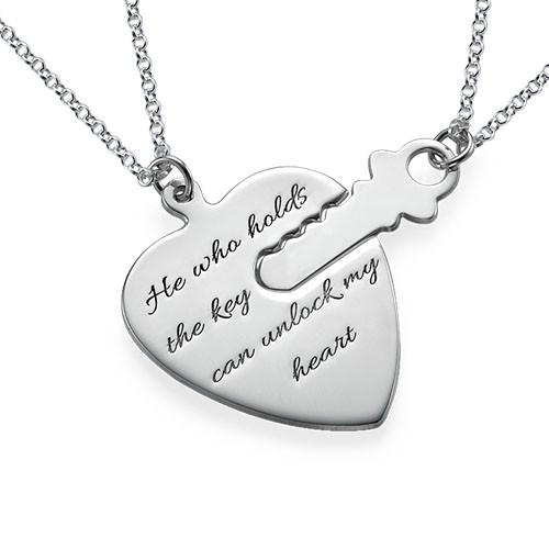 """Gravert """"Nøkkel til Mitt Hjerte"""" Smykke"""