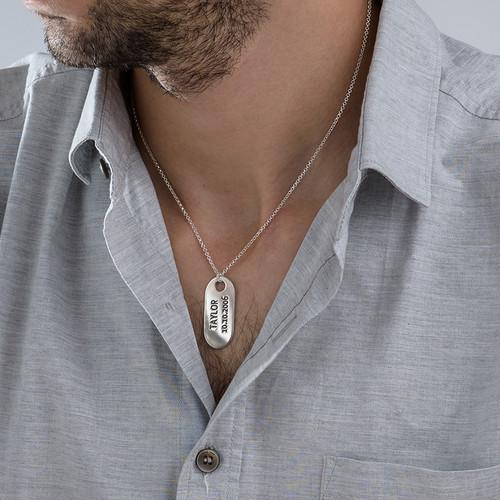 Halssmykke i sølv med ID-tag - 2