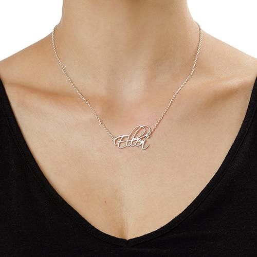 Halssmykke i sølv med personlig skrift - 1