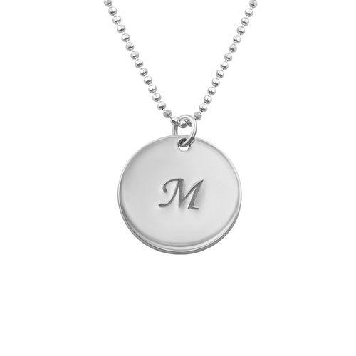Halssmykke med personlige sølvplater - 1