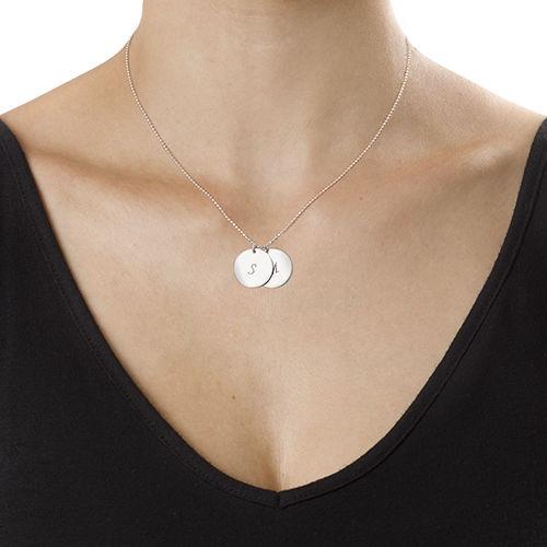 Halssmykke med personlige sølvplater - 2
