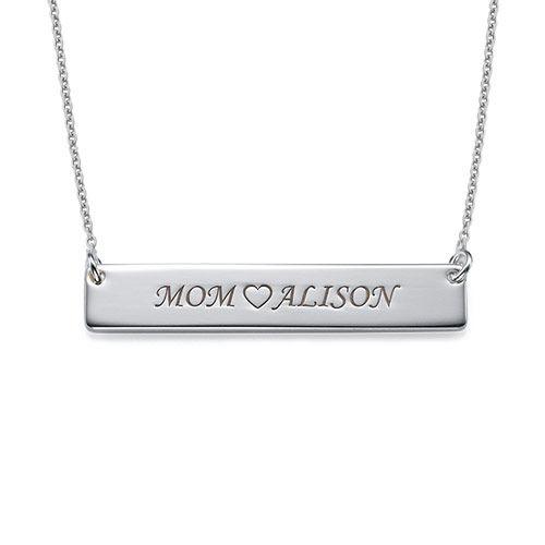 Halssmykke i sølv med navneplate - 1