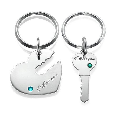 Hjerte- og nøkkelring for par