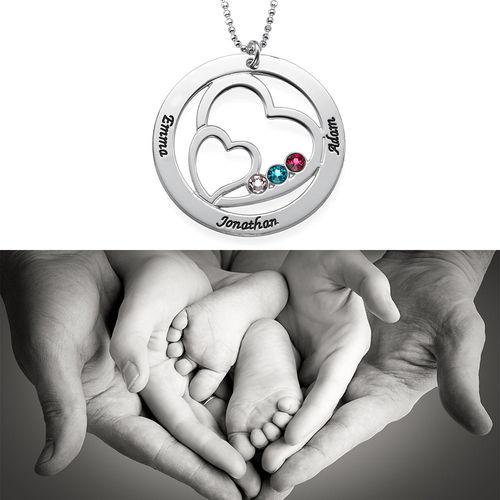 Hjerte i hjertet månedstein halskjede for mødre - 2