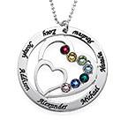 Hjerte i hjertet månedstein halskjede for mødre