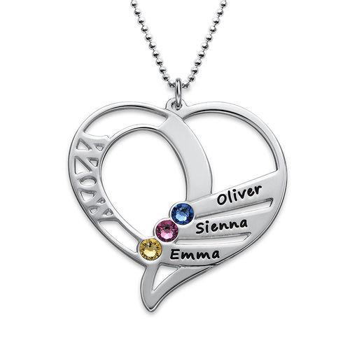 Hjerteformet Måndessteinsmykke - Kolleksjonen Evig kjærlighet - 1