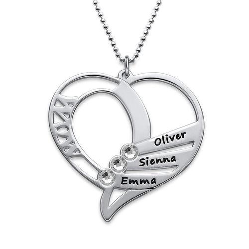 Hjerteformet Måndessteinsmykke - Kolleksjonen Evig kjærlighet - 2