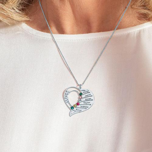 Hjerteformet Måndessteinsmykke - Kolleksjonen Evig kjærlighet - 5