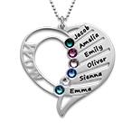 Hjerteformet Måndessteinsmykke - Kolleksjonen Evig kjærlighet