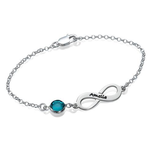 Infinity-armbånd med månedsstein