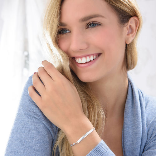 Italiensk ID-armbånd i sølv for kvinner - 2