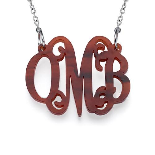 Kjendis monogram med halskjede I Acrylic