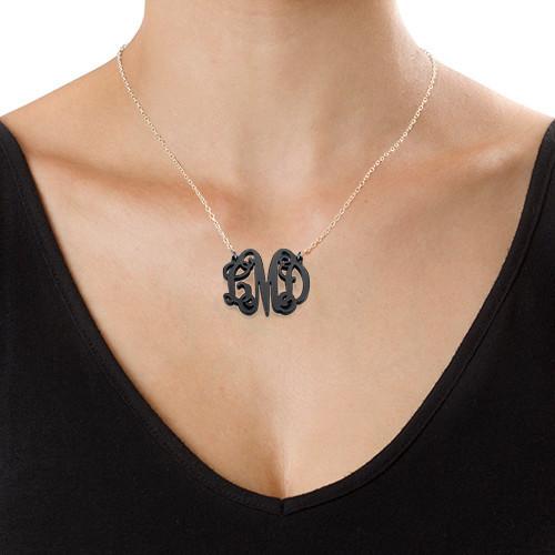 Kjendis monogram med halskjede I Acrylic - 2