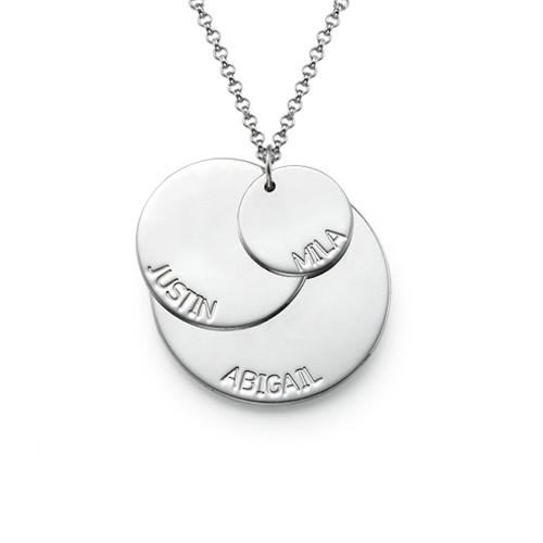 Mammasmykke i sølv med barnenavn - 1