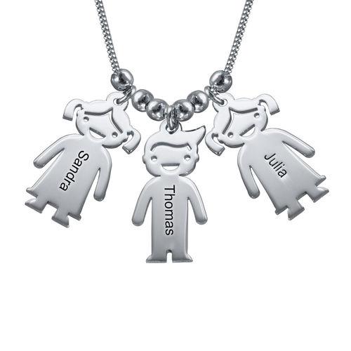 Morssmykke i sølv med barneanheng - 1