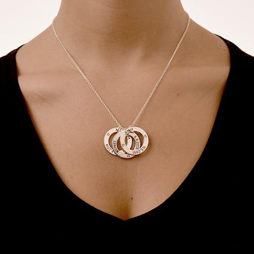 Perfekt gave til mor- Graverte Familiesirkler-smykket - 2