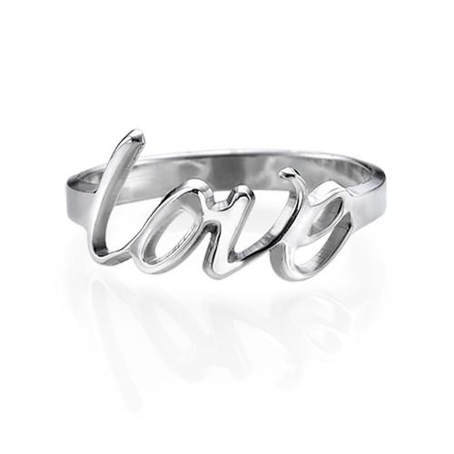 Personlig kjærlighetsring i sølv