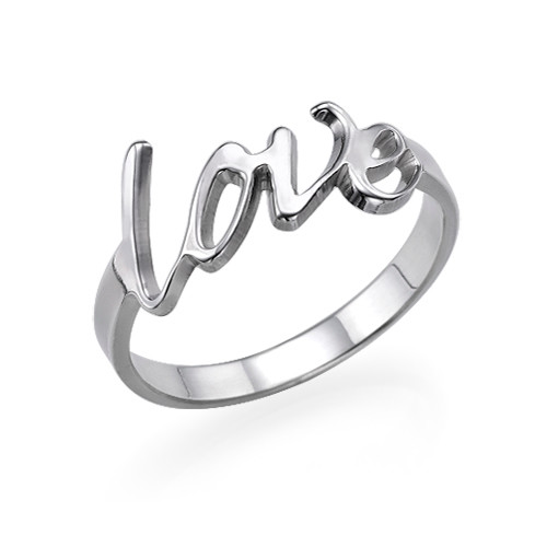 Personlig kjærlighetsring i sølv - 1