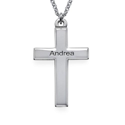 Personlig korssmykke i sølv