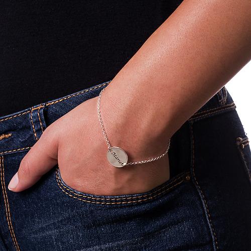 Personlig armbånd med gravert plate - 2