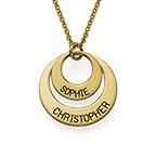 Smykke for mødre – Disk halskjede med guld plattering