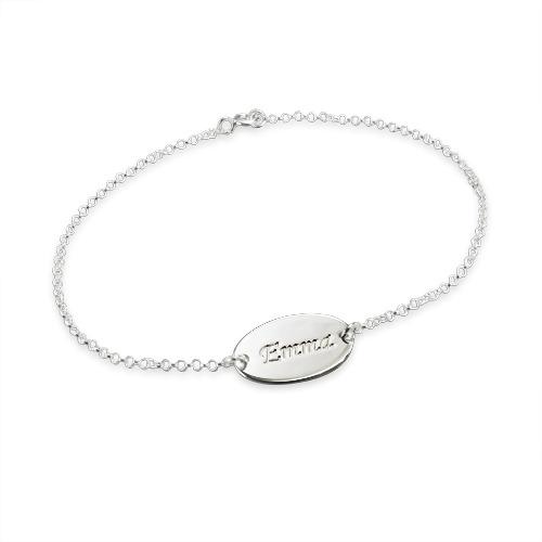 Sterling sølv tilpassede baby navne-armbånd - 1