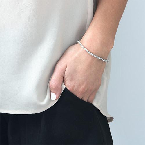 Tennis armbånd med Swarovski krystaller - 1