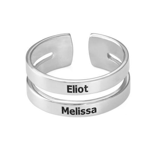 To ringer med navn i sølv - 1
