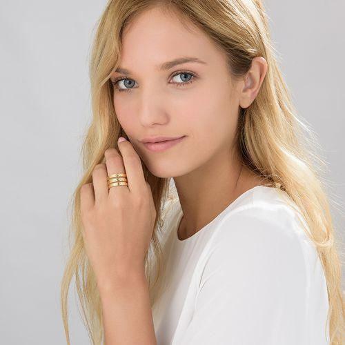 Tre ringer med navn i gullbelegg - 3