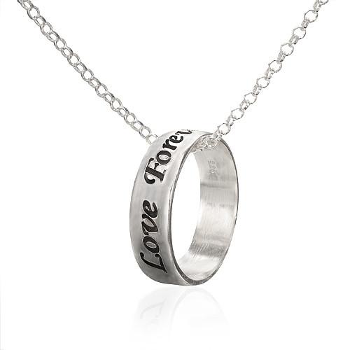 Personlig ringsmykke i sølv