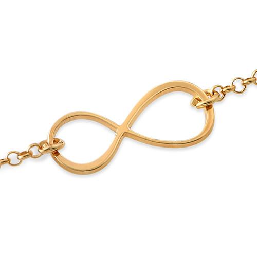 Infinity-armbånd med gullbelegg - 1