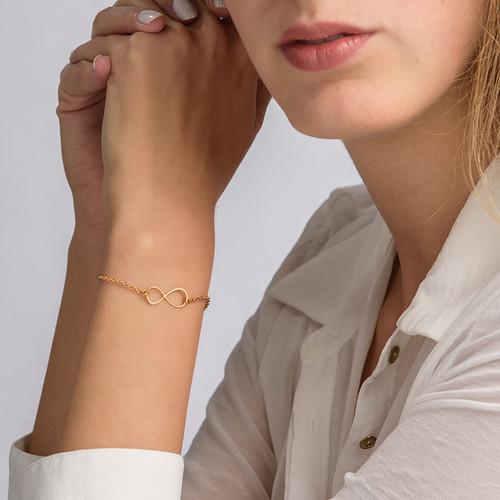 Infinity-armbånd med gullbelegg - 2