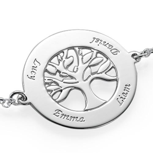 Livets tre-armbånd i sølv med gravering - 1
