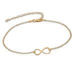 Infinity-armbånd med gullbelegg