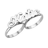 Silver-TvåFinger-Ring