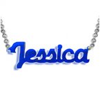 New York Style Colour Name Necklace