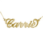 9ct Solid Gold Carrie Style Name Necklace
