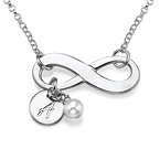Initial Infinity Necklace in Silver