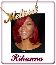 Rihanna Name Jewellery